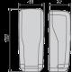 Wymiary zewnętrzne fotokomórki DESME A.15 firmy BFT